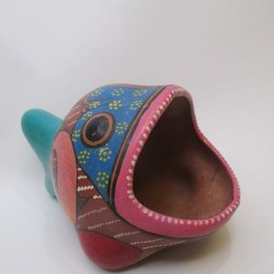 Vintage Mexico Pottery Fish Scrubby holder soap